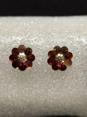 Brincos com flor em cristais Swarovski